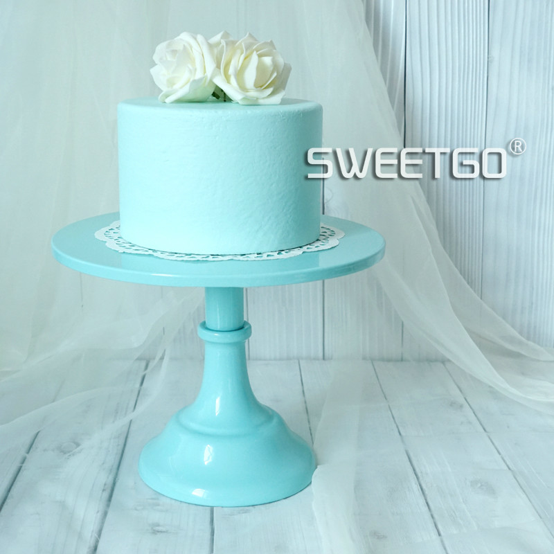 Lake Blue Cake Plate European Style Wedding Props Iron Cake Shelf 10 Inch Dessert Dish Cake Display Tray-in Stands from Home u0026 Garden on Aliexpress.com ... & Lake Blue Cake Plate European Style Wedding Props Iron Cake Shelf 10 ...
