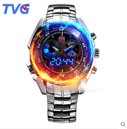 TVG Best Men s Analog Digital Military Watch LED Wristwatch 50m Waterproof Dive Sports Military Watches