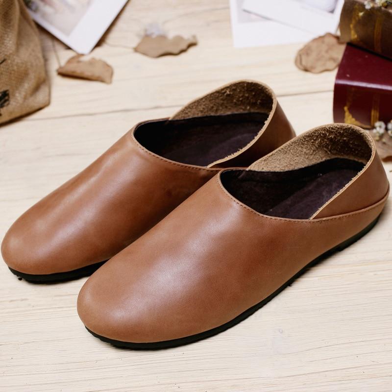الأحذية الجلدية المصنوعة يدويا شخصية - أحذية المرأة