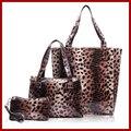 3 Sets caliente venta del nuevo de 2015 Leopard bolsos , bolsos de cuero de alto grado Shoulder Bags Women Messenger Bags Tote Bolsas
