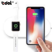 EDAL Wireless Charger Quick QC3 0 Fast Charging Simultaneously 5V 2A Chargers For Apple Watch For