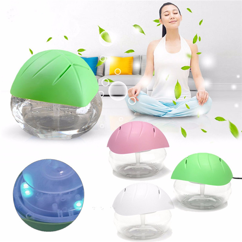 Durable ABS PP Leaf Cover Oval Humidifier <font><b>Air</b></font> Mist Diffuser Oil Aromatherapy Ionizer <font><b>Purifier</b></font> Green Purple <font><b>White</b></font>