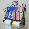 freeshipping Paper towel holder paper  toilet paper holder bathroom towel rack iron bathroom newspaper and magazine racks
