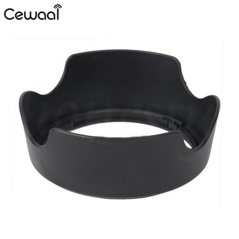 Plastic Camera Lens Hood Photo Lens Shade Replacement Camera Accessories Light Filter for Canon EW63C Canon EF-S 18-55mm F