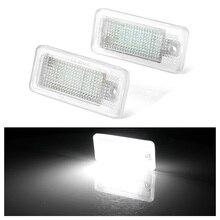 2 шт. 12 В светодиодные лампы для номерного знака для Audi A4 A5 A6 C6 A3 S3 S4 S5 B6 B7 S6 A8 S8 Rs4 Q7 подсветильник ка для автомобильного номерного знака s