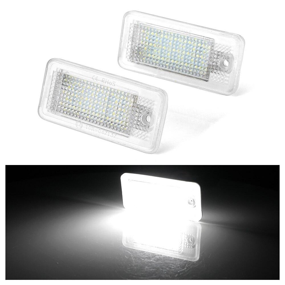 2 шт 12V светодиодный номерной знак светильник лампы для Audi A4 A5 A6 C6 A3 S3 S4 S5 B6 B7 S6 A8 S8 Rs4 Q7 автомобиля Подсветка регистрационного номера-in Номерной знак from Автомобили и мотоциклы