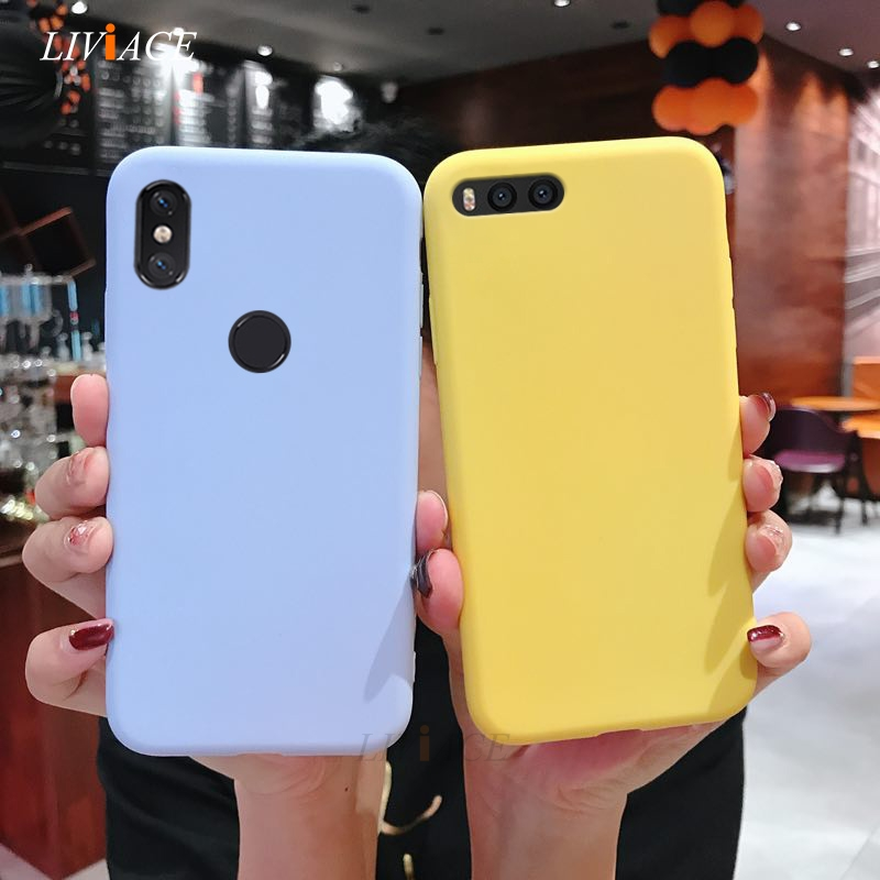 matte silicone case on for <font><b>xiaomi</b></font> <font><b>mi</b></font> note 3 <font><b>mix</b></font> 3 2 <font><b>2s</b></font> max 3 pro play mix3 cute yellow candy color soft tpu back cover <font><b>fundas</b></font> image