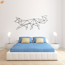 AYA DIY Wall Stickers Wall Decals, Geometric line Fox vinyl  Wall Sticker Type PVC Wall Stickers M56*24cm/L97*42cm
