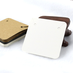 50PCS 5x5cm Blank Kraft Paper Jewelry Display Necklace Cards Hang Favor Label Tag For Jewelry Making Diy Accessories Wholesale