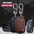 Fashion Car Shell Leather Key Case Cover KeyChain For Citroen C2 C3 C4 C5 C4L Accessories Wallet Coolcarkey