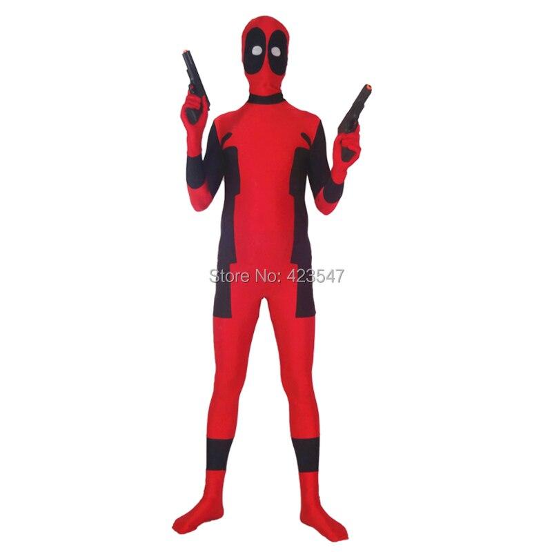 Newest Hot Deadpool Spandex Deadpool Costumes Halloween Party Cosplay zentai suit  DCC3254