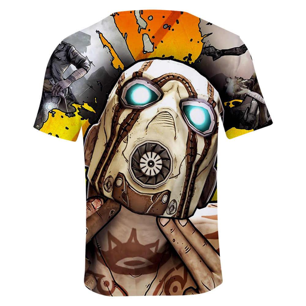 PS4 borderland 3 Zer0 костюмы бордерленды футболки хип хоп Топ косплей мужские летние уличные повседневные аниме 3D печатные футболки