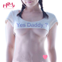 Fashion Print Letter Yes Daddy Women Crop T Shirt Sexy Gal Short Sleeve Funny Tee Shirts