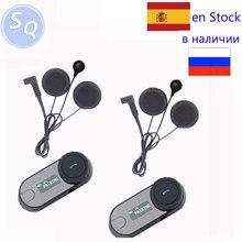 Écran LCD FM Radio + Écouteurs Doux TCOM-SC Casque Casque bluetooth interphone moto casque casque bt interphone