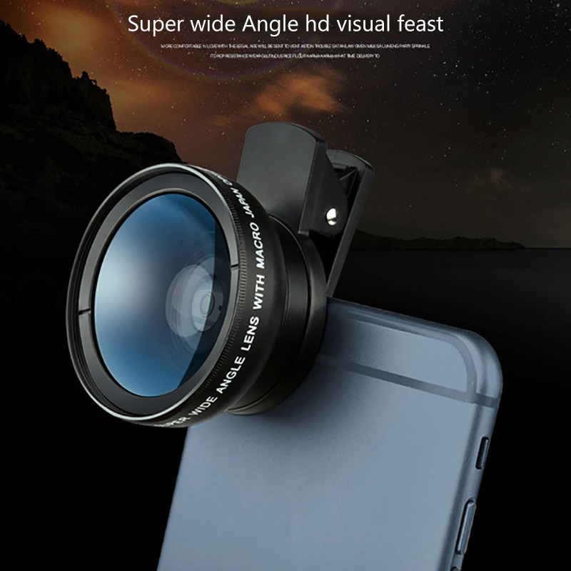HD 3 In 1 Lens Kit Clip 3 In 1 Mobile Phone Lens Camera Macro Wide Angle Phone Professional Universal Wide Range Landscapes