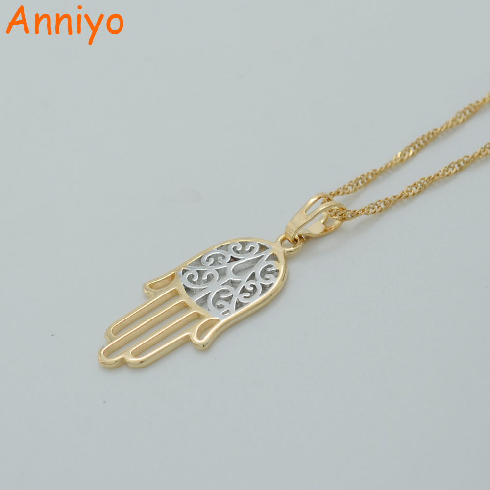 hamsa piece side jewelry products hand gods necklace the gold