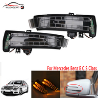1Pair Mirror Cover Turn Signal Lamp Indicator Light For Mercedes Benz E C S Class W212 W204 W221 C200 S500 C300 E300 S350 E350 /
