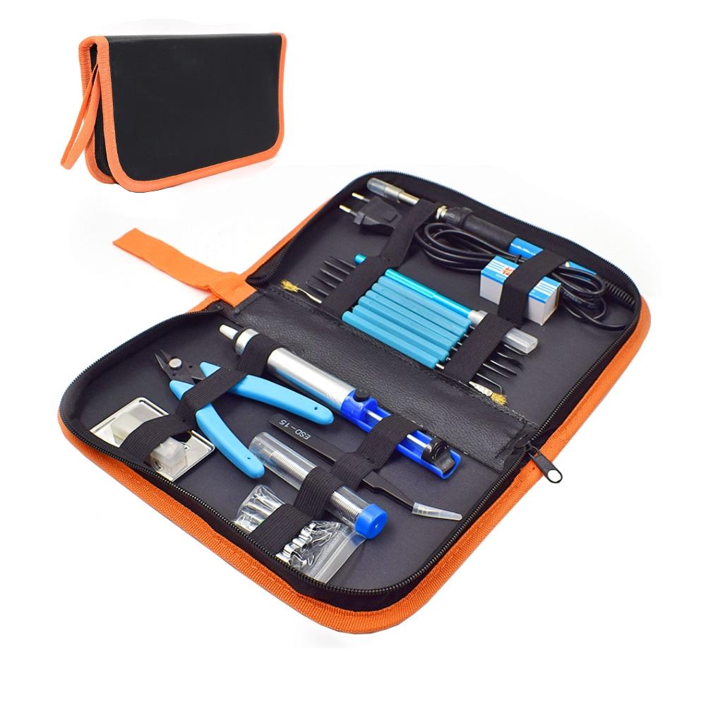 EU/Us-stecker 220 v/110 v 60 watt Einstellbare Temperatur Elektrische Lötkolben Kit + 5 stücke tipps Schweißen Reparatur Werkzeug Pinzette Hobby messer