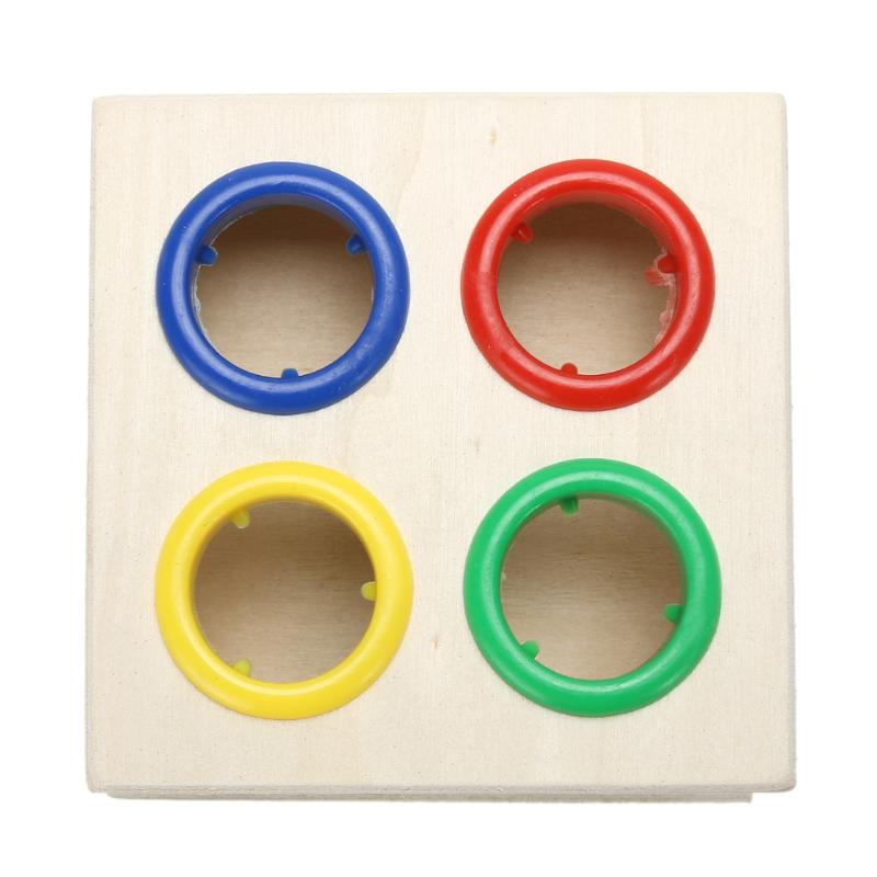 Image 5 - Child Early Learning Hammering Wooden Ball Hammer Game Educational Fun Toy Kids Stick Box Wood Knocks Pounding Toy-in Blocks from Toys & Hobbies