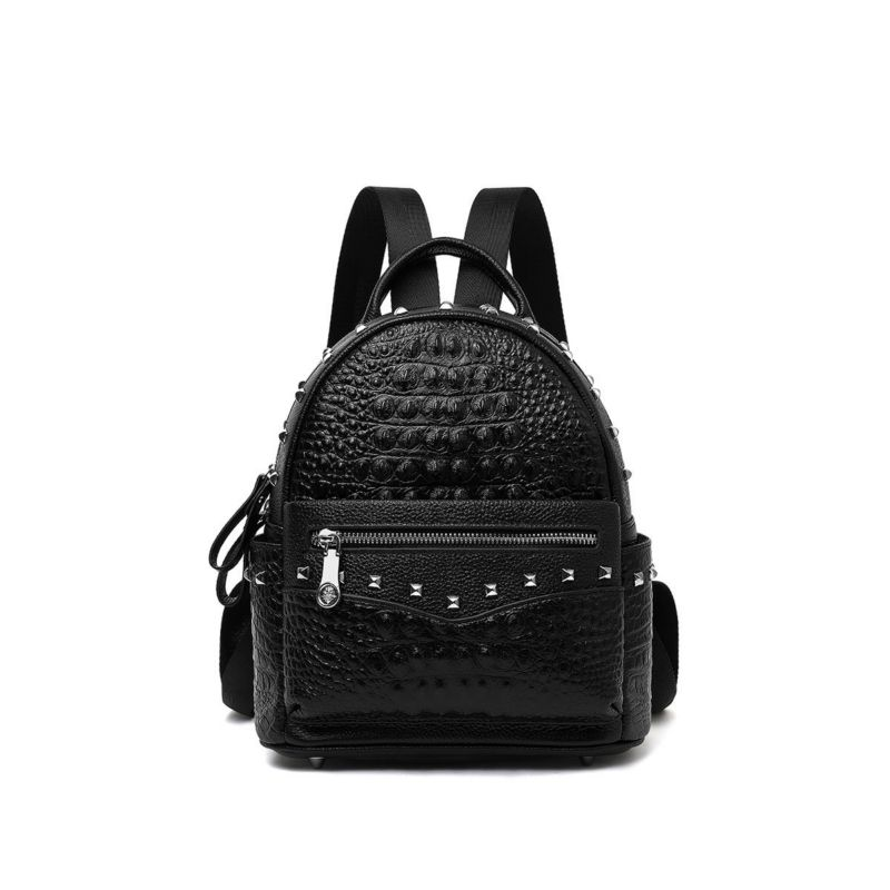 LOEIL Leather bag 2018 new shoulder bag crocodile pattern suede leather simple fashion casual outdoor sports bag
