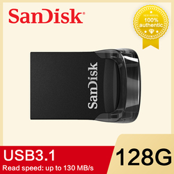 SanDisk ULTRA FIT CZ430 USB флеш-накопитель 32 ГБ флеш-накопитель 16 Гб 64 Гб 128 ГБ оригинальный USB 3,1 флеш-накопитель usb накопитель
