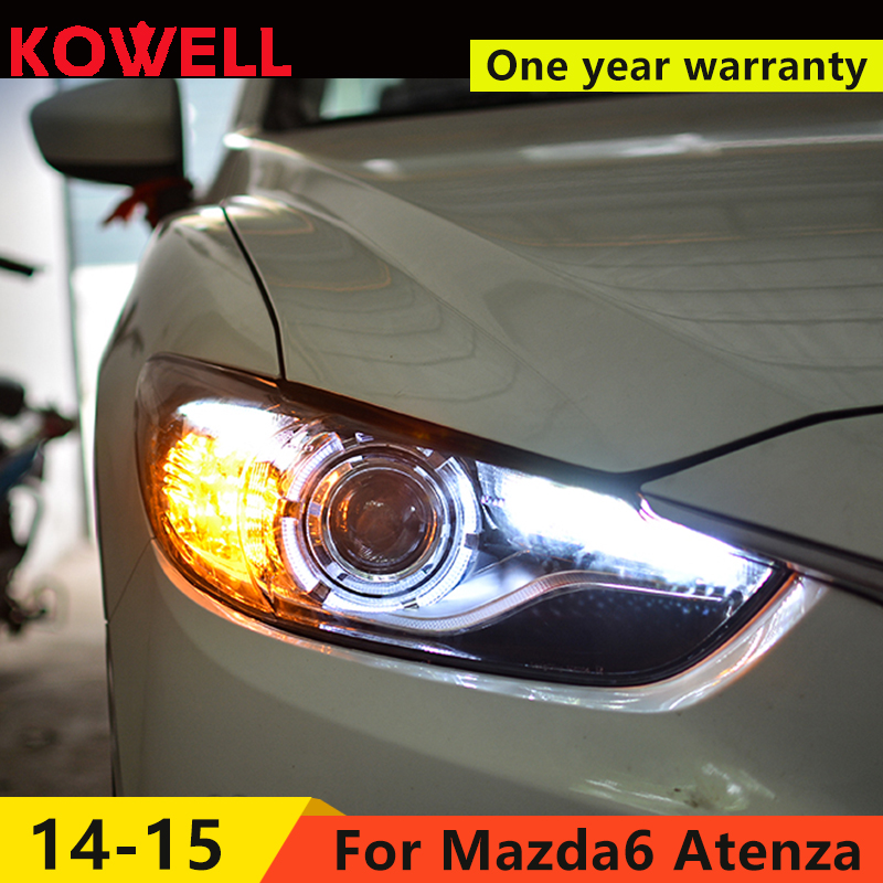 KOWELL Car Styling for Mazda 6 Headlights 2015 New Mazda6 Atenza LED Headlight Original DRL Bi