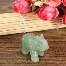 Lucky Elephant Jade Stone Figurine