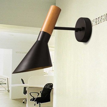 Nordic moderne korte persoonlijk loft industriële aj ameican ijzer led wandkandelaar lamp badkamer spiegel home decor verlichtingsarmatuur
