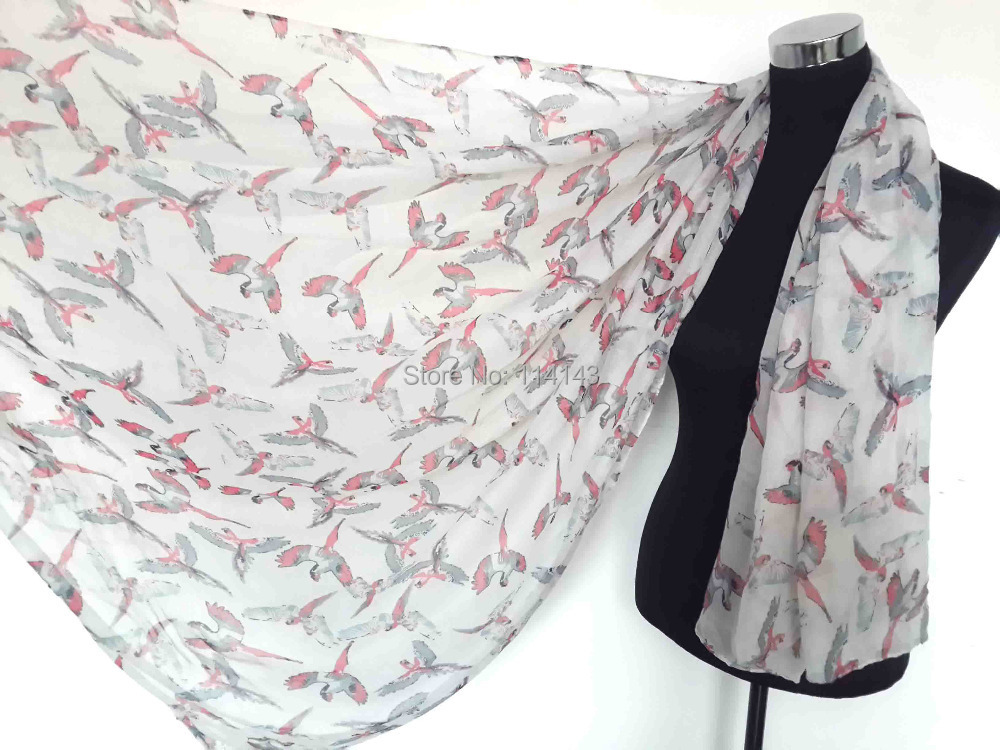 10pcs/lot Oversize Bird Print Scarf Shawl Wrap Women's Accessories, Free Shipping