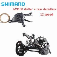 SHIMANO XTR M9100 12s Groupset Mountain Bike Groupset 1x12 prędkość RD SL M9100 i RD M9100 przerzutka tylna XTR Shifter dla 10 51T