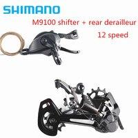 SHIMANO XTR M9100 12s Groupset Mountain Bike Groupset 1x12 Speed RD SL M9100 & RD M9100 Rear Derailleur XTR Shifter for 10 51T