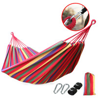Dew Single double canvas Thickened hammock Outdoor camping Swing room Hammock