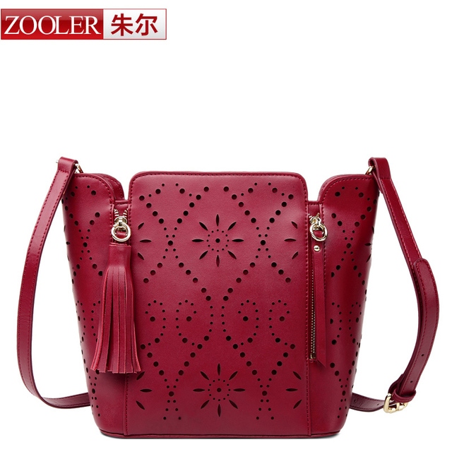 ZOOLER Fashion women leather Bags handbags women famous brands 2016 Summer quality Hollow Out bag bolsas 5009