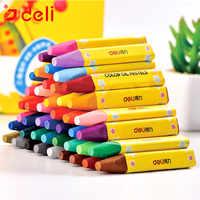 Deli Crayon de cire enfants peinture à l'huile bâton couleur bonbon huile Pastel Crayon sécurité enfant Pastel Non toxique 8/12/24/36/48 couleurs par boîte