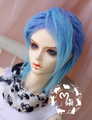 Fashion blue curly fur wig 1/3 1/4 1/6 BJD Wigs long wig for DIY dollfie