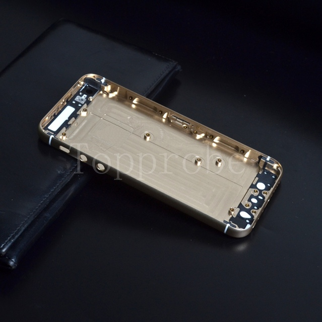 New design Midframe cover Back battery Middle housing For iPhone 5 5g 5s like iphone 6 middle Frame board with Replacement +film