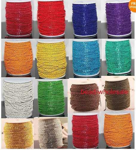 OMH оптовая продажа, 5 м металлическая цепочка с открытым плетением, много цветов, чтобы выбрать цепочки для производства браслета, ожерелья