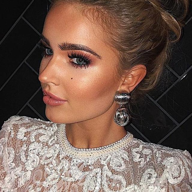 Dvacaman Fashion ZA Water Drop Earrings Women 2019 Trendy Resin Statement Pendan