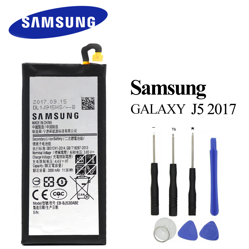 Original <font><b>Battery</b></font> EB-BJ530ABE for Samsung Galaxy J5 2017 /J5 Pro J530 <font><b>J530F</b></font> J530G 3000mAh High Quality Batteria Akku with tools image