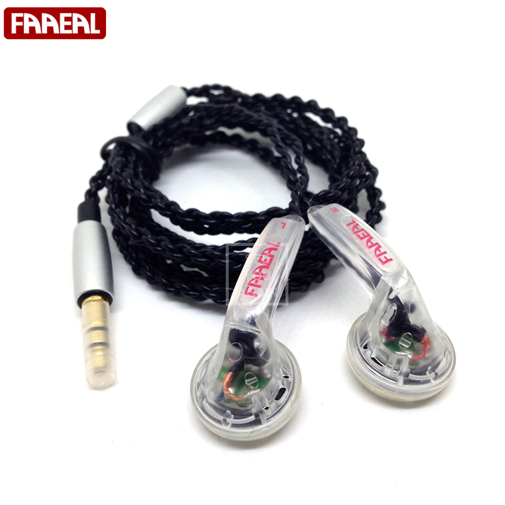 Original FAAEAL HIFI In-ear Earphone 64 Ohm DIY Heavy Bass Sound Quality Music Earphones DJ Earphones Universal 3.5MM Jack