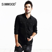 SIMWOOD Brand Clothing 2016 New Autumn Shirts Men Long Sleeve Fashion Casual Cotton Shirts High Quality