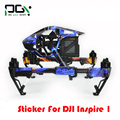 Apg dji inspire 1 etiqueta fuselaje control remoto batería brazo de la máquina adhesivo personalizado para inspire 1 drone envío gratis