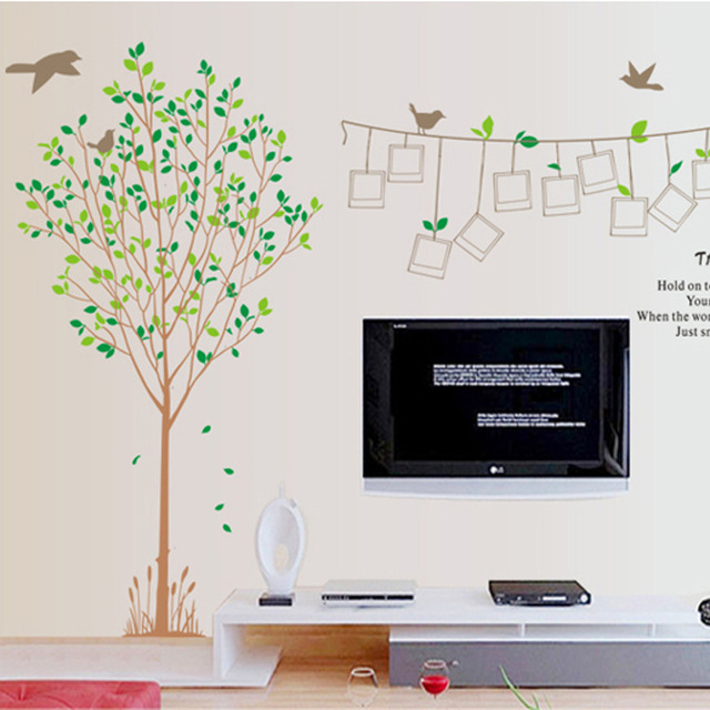 2017 Rushed Stickers Maruoxuan Extra 2pcs/set Birds Tree Decal Wall Poster Photo Picture Frame Romantic Diy Sticker Living Room