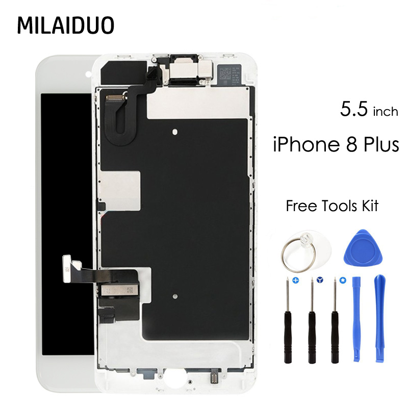 LCD Display For iPhone7 Plus 7G X 8G 8 Plus Touch Screen Digitizer with Front Camera Ear Speaker Full Assembly Replacement in Mobile Phone LCD Screens from Cellphones Telecommunications