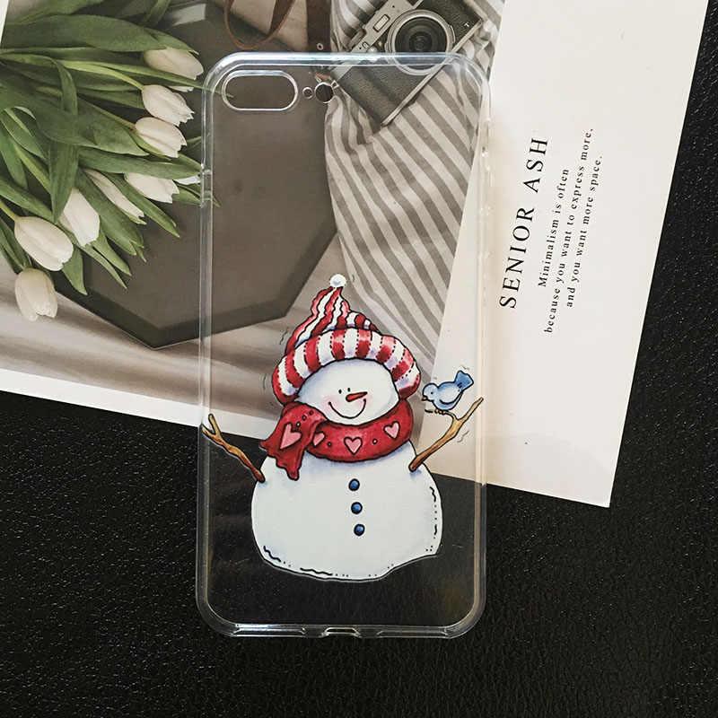クリスマス新年のギフトヘラジカ電話ケース iphone 4 4s サムスン注 10 8 S6 エッジ A5 2017 Tpu ケース huawei mate 30 P8 P9 Lite