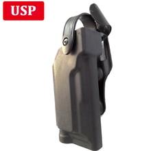 Hunting Shooting Gun HK USP Compact Holster Quick Released Belt Holsters Light Bearing Army Combat Pistol Waist