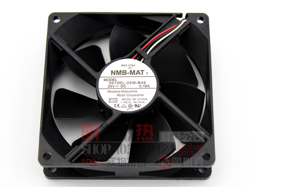 3610KL-05W-B49 24V 0.16A three-wire original 92 * 92 * 25 axial fan