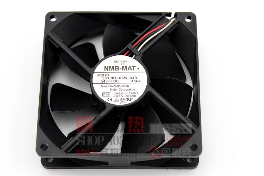 3610KL-05W-B49 24V 0.16A three-wire original 92 * 92 * 25 axial fan