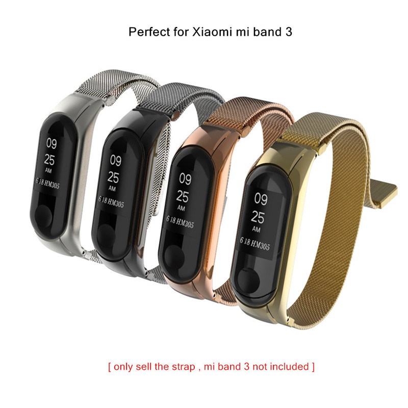 Milanese Strap for Xiaomi Mi Band 3 Magnetic Metal Mesh Steel Wrist Band for Mi Band 3 Smart Watch Bracelet Straps Miband 3 цены