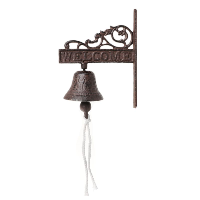 Antique Style Cast Iron Hanging Door Bell Wall Mounted Welcome Doorbell Home DecorationAntique Style Cast Iron Hanging Door Bell Wall Mounted Welcome Doorbell Home Decoration